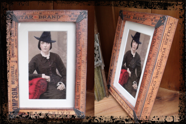 6. Vintage Ruler Photo Frames