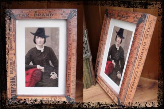 6. Vintage Ruler Photo Frames