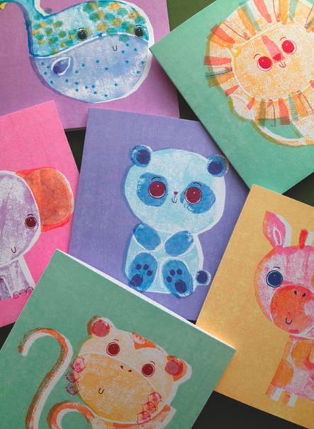 cute animal cards
