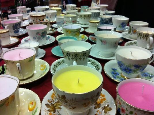 vintage teacup candles
