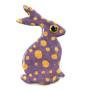 rabbit hare brooch