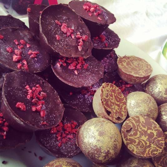 dark chocolates raspberry