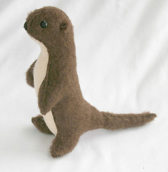 Handmade otter donated by Shark Alley
