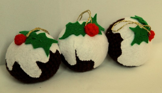 Crochet Christmas Puddings (2)