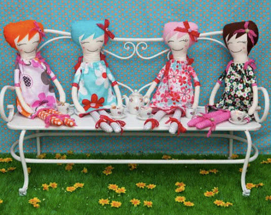cute dolls by Darcy and Flo